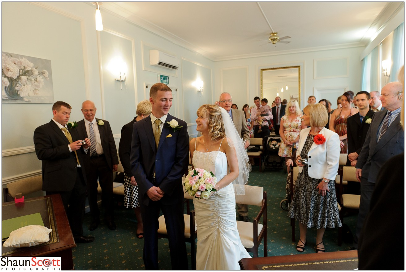 Bournemouth registry wedding