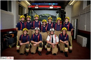 Firemen Group photo with pump, Corporate Photography