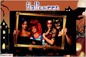 Halloween Event Photography with frame green screen