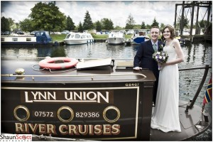 Ely Maltings Wedding Photography, on the River