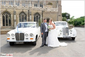 March Wedding Photography two cars