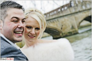The Old Bridge Huntingdon Wedding Photography, The Bride & Groom