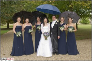 Cambridge Wedding Photography, Group Umbrellas
