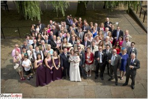 Ely Wedding Photography, Group of all guests