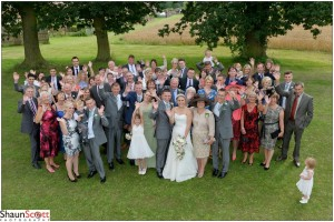 Downham Market Wedding Photography, Group of al the guests